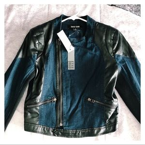 Leather Denim Jacket